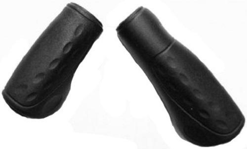 Westphal handvatten 90/120 mm rubber zwart per set