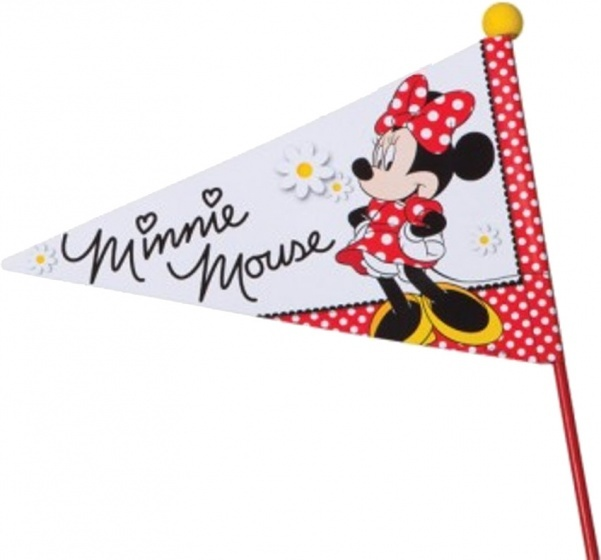 Widek fietsvlag met zwarte stok Minnie Mouse deelbaar rood/wit Sport>Fietsen>Fiets Onderdelen & Accessoires aanschaffen doe je het voordeligst hier
