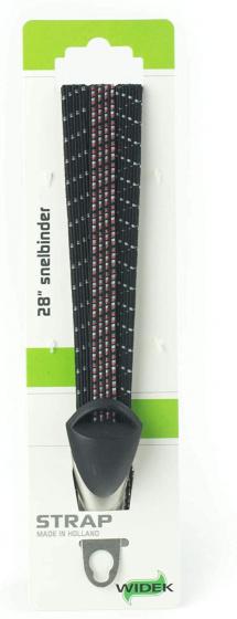 Widek snelbinders City Life 28 inch elastaan zwart/rood