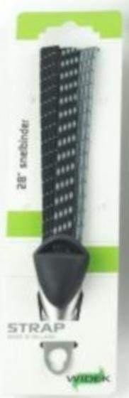 Widek veiligheidsbinder beugel 28 inch RVS zwart/wit