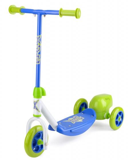 Xootz 3-wiel Kinderstep Bubble Scooter Jongens Voetrem Groen/blauw online kopen