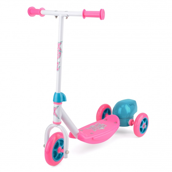 Xootz 3 wiel kinderstep Bubble Scooter Meisjes Voetrem Roze