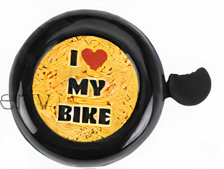XQ Max fietsbel kinderfiets Roar junior 5,3 cm zwart/geel