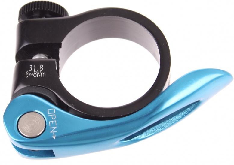 Xtasy Zadelpenklem SCQ 100 met QR 31,8 mm zwart-blauw
