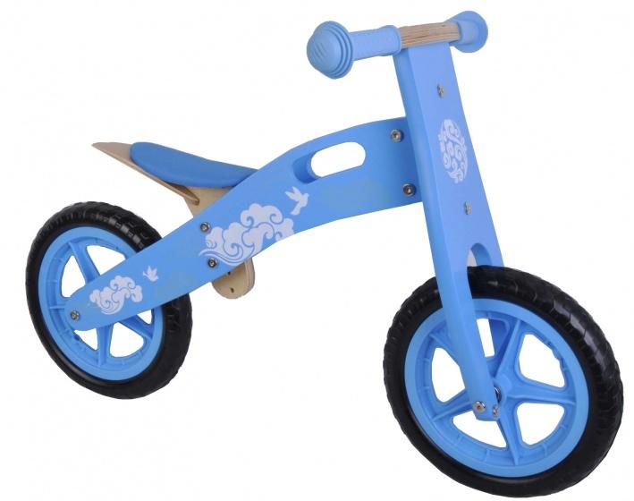 Yipeeh houten loopfiets Blauw 12 inch met EVA banden