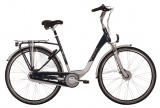 Puch Brilliant 28 Inch 55 cm Dames 8V Rollerbrakes Blauw/Zilver